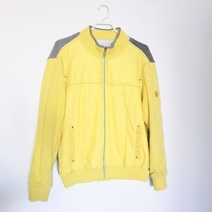 Songzio Golf Yellow Bomber Jacket